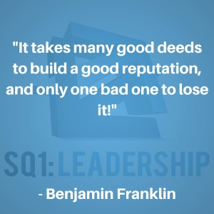 Franking quote on reputation #reputation #character #quote